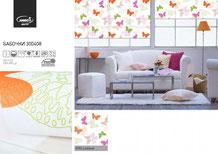Рулонные шторы, ткань Бабочки