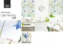 Рулонные шторы, ткань Флора