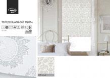 Рулонные шторы, ткань Толедо Блэкаут