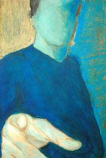 Und Du auch! Acryl auf Pappe, 55 x 83 cm, 2003
