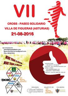 VII CROSS SOLIDARIO VILLA DE FIGUERAS - Figueras (Asturias), 21-08-2016