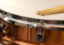 kleine Trommel mit Drum Sticks
