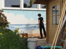 Hauswand Gemälde Kunst Meer Strand