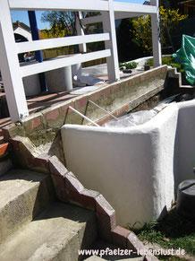 Beton Treppe verschönern griechisch
