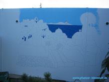 Santorini Wandbild Griechenland