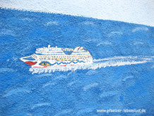Santorini Wand Aida Meer selbst malen