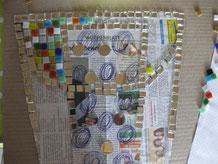 Mosaik Entwurf Eimer Dubbeglas