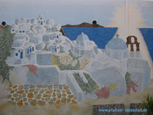 Santorini Wand Griechenland Gemälde