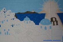 Santorini Wand Gemälde Griechenland