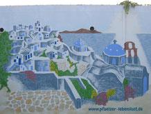 Santorini Garage Wand selbst malen