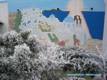 Santorini Griechenland selbst malen Hauswand