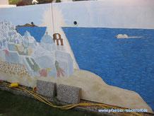 Santorini Wand Aida Gemälde selbst malen