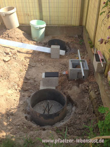 Fundament Unterbau Stelzen Stelzenhaus_selbst _gebaut