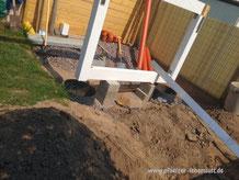Fundament Stelzenhaus Beton gegossen