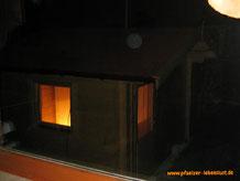 Innenausbau Garten Sauna selbst gebaut Blockhaus Holz Gartensauna