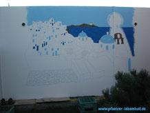 Santorini Wand selbst malen