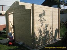 Garten Sauna selbst gebaut Blockhaus Holz Gartensauna Aufbau