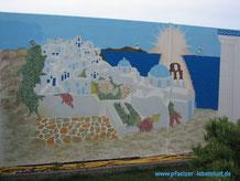 Santorini  selbst malen Garage Wand