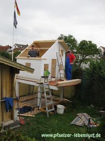 Aufbau selbst Stelzenhaus Kinderhaus Tom 2-stöckig Speicher