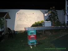 Santorini Meer Projektor Wandbild übertragen