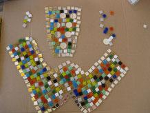 Mosaik Dubbeglas Vorlage entwerfen