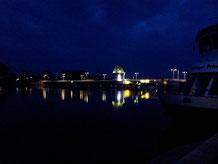 Klappbrücke in Kappeln bei Nacht