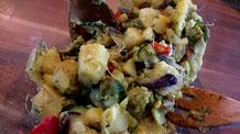 """fair4world - Kartoffelsalat """"Tropisch"""" mit Avocado und Kokosmilch"""