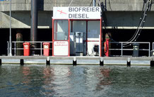 Diesel filling station at the harbour entrance