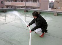 連結送水口からの放水試験|消火設備点検【新潟】