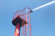 コンビナート用の消防設備点検、これも三和産業様のお仕事です。