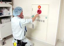 散水栓上部発信機の通話試験|火災報知設備点検【新潟】