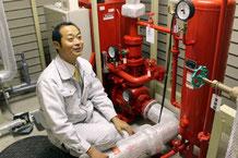 新潟市中央区の介護老人保健施設さまに設置されているスプリンクラーポンプ室