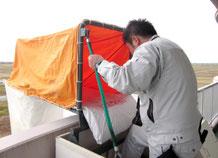 救助袋の展張点検|避難設備点検【新潟】
