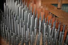 Flötenreihen Orgel Reutigen