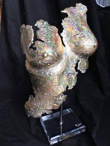 Buste d'Alain Mandon, galerie d'art du 1er, île d'Oléron