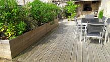 terrasse et aménagement extérieur - réalisation FMA Menuiserie Lezay