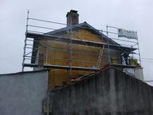 Isolation extérieur d'un pignon de maison