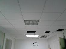 Plafond suspendu avec grille