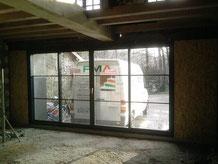 Baie vitrée - FMA Menuiserie Lezay