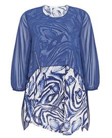 weites Kleid mollige Frau , blaues weites Kleid Größe 46