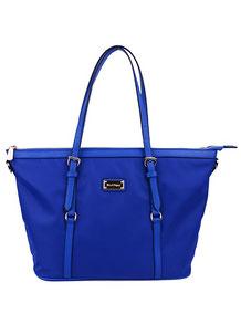 elegante Damen Handtasche Nylon blau
