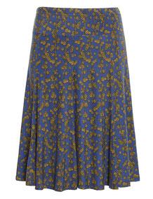 Glockenrock blau mit gelben Muster Gr 50