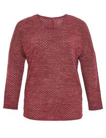 bordeaux roter Damen-Pullover für Plus Size Fashionistas, bordeaux-rot