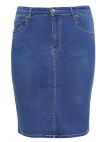 Plus Size Jeans Rock , Jeansrock Gr 50