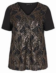 softes Damen T-Shirt für Plus Size Fashionistas, bordeaux-rot
