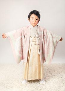 5-38 葵紋と龍 ベビーピンクの着物