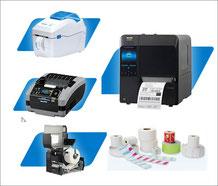 Thermodrucker, Thermoetiketten und Transferbänder