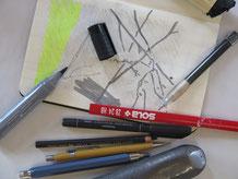 Bleistift, Kohle, Kugelschrieber, Filzschreiber: Das alles ist Zeichnen!