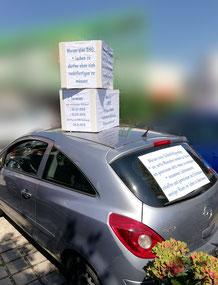 Autokarton-Aktionstag in Mühldorf, Aufklärung über CRPS