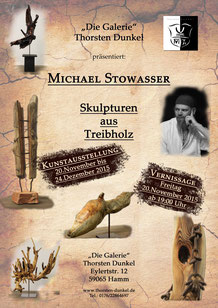 Kunstaustellung Treibholzskulpturen Michael Stowasser